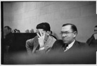 Ralph Sheldon in court, Los Angeles, 1930 or 1931