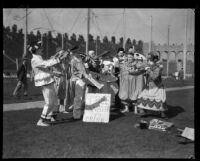 Clowns performing in Shrine Circus, Los Angeles Memorial Coliseum, Los Angeles, 1929