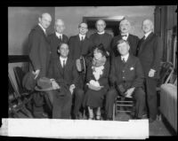 Members of clergy and community leaders gathered regarding recall of District Attorney Thomas Woolwine, 1922