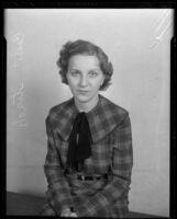 Student organizer Celeste Strack, 1934 or 1935