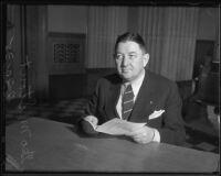 California state liquor control administrator George M. Stout, 1935