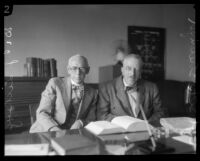 Los Angeles City Prosecutor Ernest J. Lickley and California State Athletic Commission member Seth Strelinger, 1927