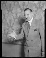 Hotel manager and boxing promoter Henry F. Stumme, 1926