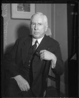 Political columnist Mark Sullivan, 1934