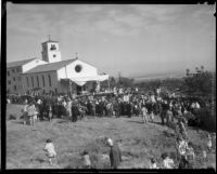 Dedication ceremony, Mater Dolorosa Passionist Retreat Center, Sierra Madre, 1932