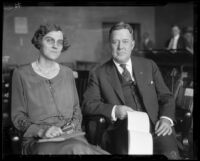 Court reporter Ben Smith and assistant Frances Knox, 1929