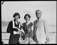 Geologist George Otis Smith with his wife, Grace, and daughter, Louise, 1930