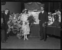 Crown Prince Gustav Adolf and Crown Princess Louise of Sweden at the Shrine Auditorium, Los Angeles, 1926