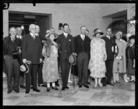 Crown Prince Gustav Adolf and Crown Princess Louise of Sweden with others, Los Angeles, 1926