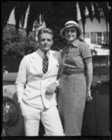 Elliott Roosevelt and Ruth Googins Roosevelt shortly after their marriage, Santa Monica, 1933