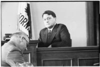 Oil executive James A. Talbot on witness stand, 1932
