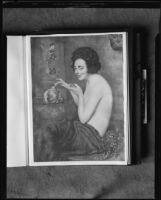 """Painting titled """"The God of Happiness"""" by Pierre Tartoue, photographed from book, [1933?]"""