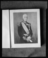 Painting of King Gustav V of Sweden by Pierre Tartoue, photographed from book, [1933?]