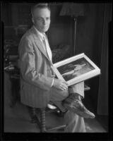 Artist Pierre Tartoue, 1933