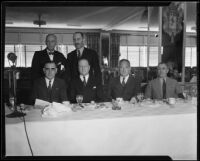 Six men at real estate banquet, [1925-1930?]