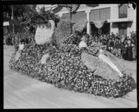 Tournament of Roses float featuring children as butterflies, Pasadena, 1924