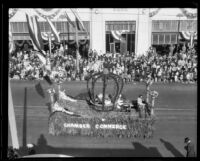 """Pasadena Crown"" float in the Tournament of Roses Parade, Pasadena, 1926"