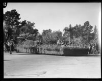 """""""Hansel and Gretel"""" float in the Tournament of Roses Parade, Pasadena, 1933"""