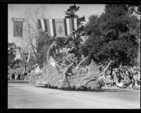 """Once in a Blue Moon"" float in the Tournament of Roses Parade, Pasadena, 1933"
