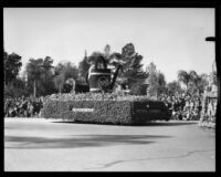 """Peter Rabbit"" float in the Tournament of Roses Parade, Pasadena, 1933"