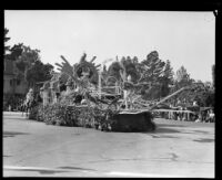 """""""Dream of Youth"""" float in the Tournament of Roses Parade, Pasadena, 1933"""