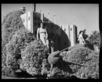 """Casino at Catalina Island"" float in the Tournament of Roses Parade, Pasadena, 1933"