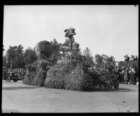 FTD float in the Tournament of Roses Parade, Pasadena, 1933