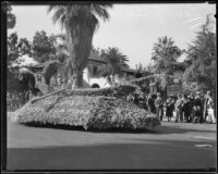 """Fairy Barge"" float in the Tournament of Roses Parade, Pasadena, 1933"