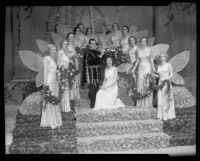 Coronation of Tournament of Roses queen Dorothy Edwards, Pasadena, 1933