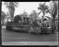 """Little Boy Blue"" float in the Tournament of Roses Parade, Pasadena, 1933"