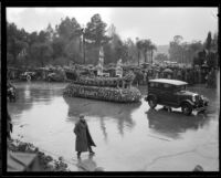 Los Angeles County float in the Tournament of Roses Parade, Pasadena, 1934
