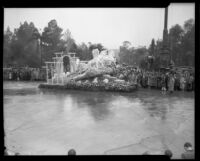 """Dawn"" float in the Tournament of Roses Parade, Pasadena, 1934"