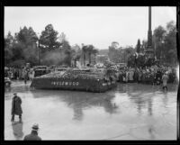 """Magic Sea Shell"" float in the Tournament of Roses Parade, Pasadena, 1934"