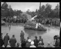 """Sea Gull"" float in the Tournament of Roses Parade, Pasadena, 1934"
