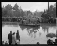 """Cabrillo"" float in the Tournament of Roses Parade, Pasadena, 1934"