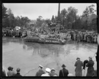 """Bride of the Sea"" float in the Tournament of Roses Parade, Pasadena, 1934"