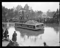 """Pirate Boat"" float in the Tournament of Roses Parade, Pasadena, 1934"