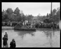"""Sea Serpent"" float in the Tournament of Roses Parade, Pasadena, 1934"
