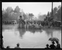 """Queen of the Seven Seas"" float in the Tournament Roses Parade, Pasadena, 1934"
