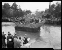 """Argonauts"" float in the Tournament of Roses Parade, Pasadena, 1934"