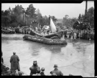 """Royal Barge"" float in the Tournament of Roses Parade, Pasadena, 1934"