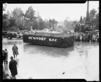 """Gondola"" float in the Tournament of Roses Parade, Pasadena, 1934"
