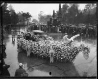 Grand Marshal Admiral William Sowden Sims in the Tournament of Roses Parade, Pasadena, 1934