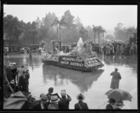 """The Colorado River Aqueduct"" float in the Tournament of Roses Parade, Pasadena, 1934"