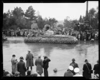"""Treasure Island"" float in the Tournament of Roses Parade, Pasadena, 1934"