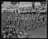 American Legion Charles P. Rowe Post Marching Band at the Tournament of Roses Parade, Pasadena, 1927