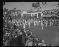 B.P.O. Elks No. 627 Pasadena Marching Band at the Tournament of Roses Parade, Pasadena, 1927