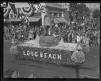 """Bells of the Sea"" float in the Tournament of Roses Parade, Pasadena, 1927"