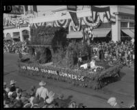 """Home Sweet Home"" float in the Tournament of Roses Parade, Pasadena, 1927"