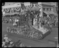 Czechoslovakia float in the Tournament of Roses Parade, Pasadena, 1927